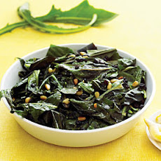 Dandelion Greens with Currants and Pine Nuts