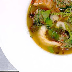 Coriander And Tiger Prawn Soup With Chilli Prawn Balls