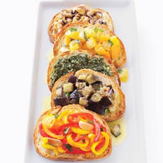 Chickpea and Octopus Bruschetta