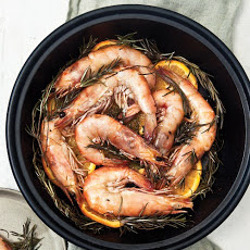Shrimp Roasted on Rosemary