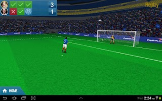 Screenshot of Capital One Penalty Shootout