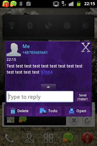 無料个人化AppののテーマをGO SMS Theme Purplダークパープル|HotApp4Game