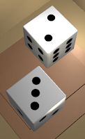Screenshot of Two Dice: Simple free 3D dice