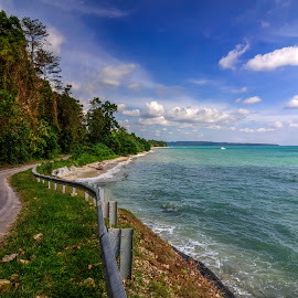Havelock Island in Andaman, India by Joybrata Chakraborty - Landscapes Travel ( andaman, nikon d5100, blue sky, india, blue water, road, beach, waterscapes )