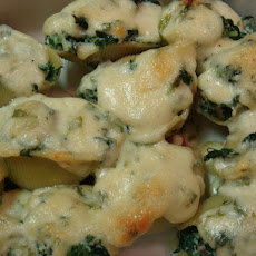 Shells With Crispy Pancetta and Spinach - Giada De Laurentiis