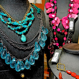 Necklaces by Barbara Brock - Artistic Objects Jewelry ( gemstone necklaces, necklaces for sale, jewelry on mannequins )
