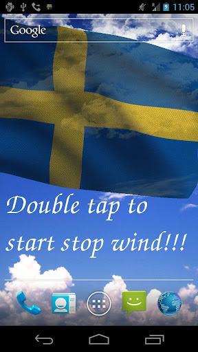 3D Sweden Flag Live Wallpaper