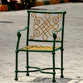 Easy by Sanjeev Goyal - Artistic Objects Furniture ( sit, park, shadow, green, yellow )