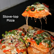 Stove top Pizza or No oven pizza or No bake pizza