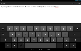 Screenshot of Blogger