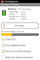 Screenshot of Aura Battery Indicator/Widget