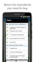 Screenshot of Grocery List & Shopping List