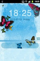 Screenshot of GO Locker Theme Butterfly Blue