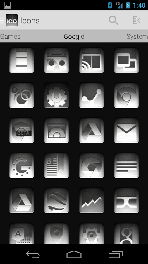 Tha Noir - Icon Pack Screenshot 1