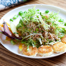 Frisee & Farro Salad with Warm Goat Cheese