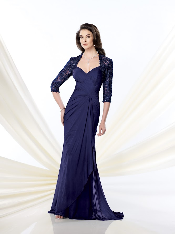 Navy Blue Evening Dress With Jacket Fashion Dresses