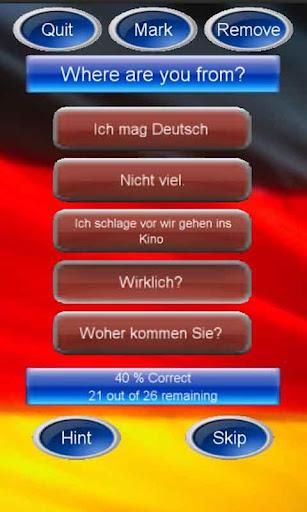 Free Common German Phrase Quiz