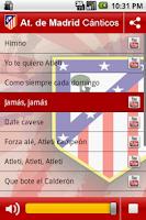 Screenshot of Atlético de Madrid Cánticos