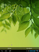 Screenshot of Galaxy S4 Clock Widget