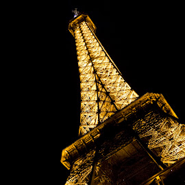 . by Krystle-lee Dodson - Buildings & Architecture Public & Historical ( angles, paris, eiffel tower, night photography, france )