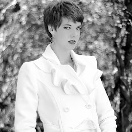 by Chris Smith - People Fashion ( black and white, coat )