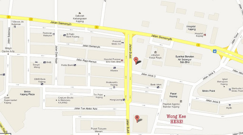 Map @ Wong Kee Restaurant - Malaysia Food & Restaurant Reviews