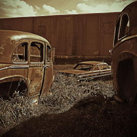 Old rusty cars by Jeffrey T Johnson - Transportation Automobiles ( old, cars, oldcars, rusty, rustic )