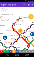 Screenshot of Explore Singapore MRT map