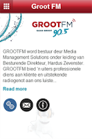 Screenshot of Groot FM