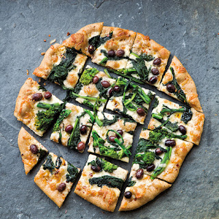 Broccoli Rabe & Olive Pizza