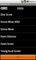 Screenshot of Hunting Call