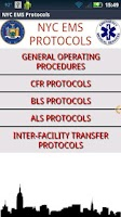 Screenshot of NYC EMS Protocols