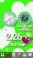 Screenshot of CUTE WORLD ALARM QLOCK Green