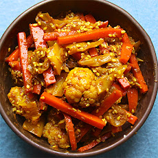 Cauliflower, Cabbage, and Carrot Achar (Malaysian-Style Pickle)