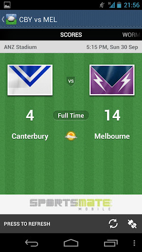 nrl-league-live for android screenshot