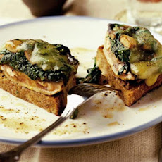 Cheesy Stuffed Mushrooms On Toast