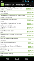 Screenshot of Video Game Price Charts