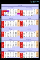 Screenshot of CalendarLab calendar