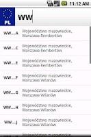 Screenshot of Polskie tablice rejestracyjne