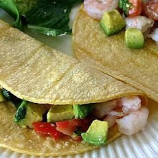 Ceviche- Style Shrimp and Avocado Tacos