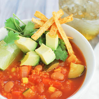 Veggie Tortilla Soup with Quinoa