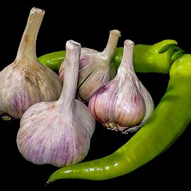 peppers with garlic by LADOCKi Elvira - Food & Drink Fruits & Vegetables ( peppers, garlic )
