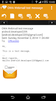 Screenshot of OWA Webmail