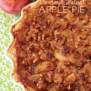 Caramel Walnut Apple Pie