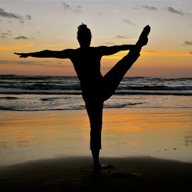 Namaste by Tyrell Heaton - Sports & Fitness Other Sports ( sunset, costa rica, beach, yoga,  )