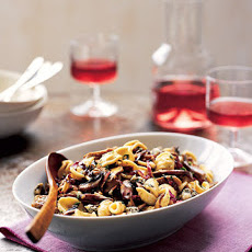 Orecchiette with Mushrooms, Radicchio, and Gorgonzola