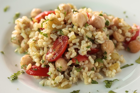 Brown Rice Salad with Cumin and Lime Vinaigrette Recept | Yummly