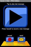 Screenshot of speak2mail - PRO Edition