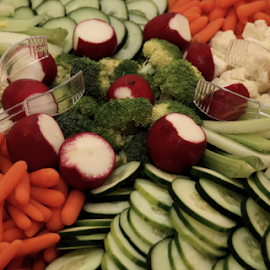Munchies by Marsha Biller - Food & Drink Fruits & Vegetables ( cucumber, sprongs, platter, cauliflower, food, celery, vegetables, carrots, radish )