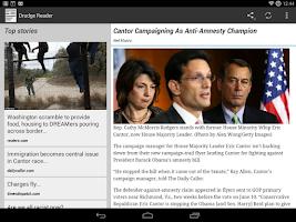 Screenshot of Drudge Reader